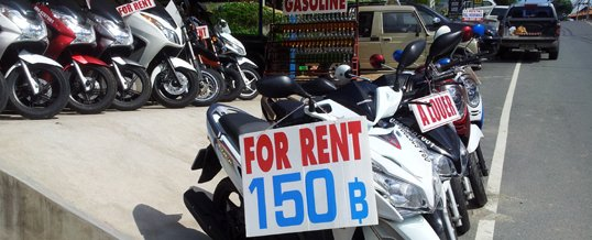 Renting a Motorcycle in Thailand